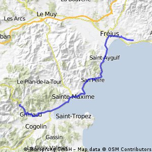 22.dzień spod saintropez do cemp de Berard