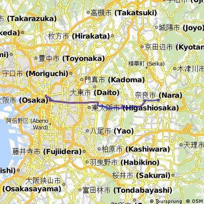 Osaka-Kobe-Akashi   Bikemap - Your bike routes