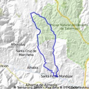 Ruta MTB Sta Fe de Mondújar-Alcubillas Altas-Sta Fe de Mondújar