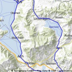 Zug - Goldau - Sattel - Aegeri - Zug