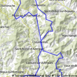 Beaujolais 1+2 (Haute Azergues + Forêt de la Pyramide)