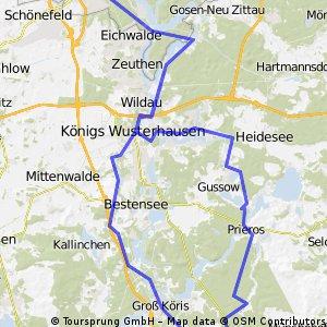 Dahmeradweg bis Märkisch Buchholz und zurück