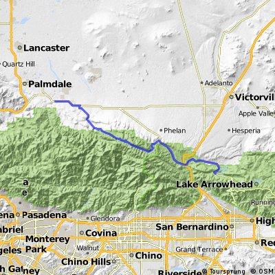 Dag 008 Silverwood Lake - Lancaster 88 km
