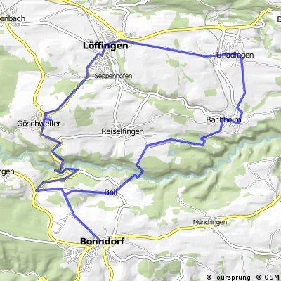 Bonndorf Reiselfingen Bachheim Rundkurs