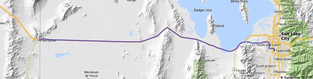 Salt Lake City to Wendover