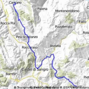 Cansano-Carovilli 8.Etappe von 13