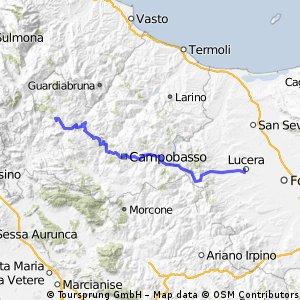Carovilli-Lucera 9.Etappe von 13