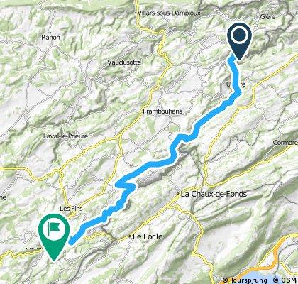 Grande Traversée du Jura - Etape 1 : Indevillers / Morteau (60 km, D+ 1500 m)