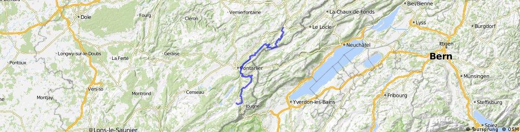 Grande Traversée du Jura - Etape 2 : Morteau / Métabief (70 km / D+ 1400 m)