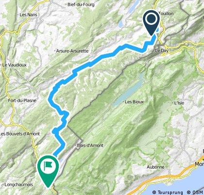 Grande Traversée du Jura - Etape 3 : Métabief / Les Rousses (65 km / D+ 1300 m)