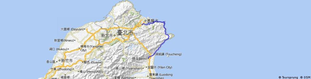 Cidu-七堵 to Jiaoxi-礁溪