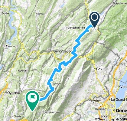 Grande Traversée du Jura - Etape 4 : Les Rousses /Giron (56 km / D+ 1000 m)
