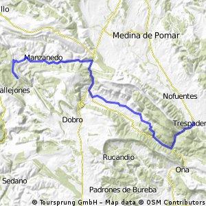 Ruta EBRO 2011 - ETAPA 03 - MARTES 12 DE MAYO -AILANES - MANZANEDILLO 10 - incinillas 18 - valdenoceda 24 - puente arenas 26 - arrollo 31 - cereceda 41 - TRESPADERNE - 51 km CLONED FROM ROUTE 932683