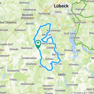 60km durch blühende Rapsfelder CLONED FROM ROUTE 1584775
