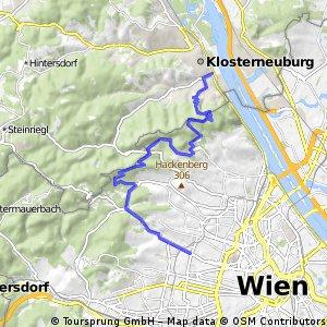 Über die Höhenstraße nach Klosterneuburg