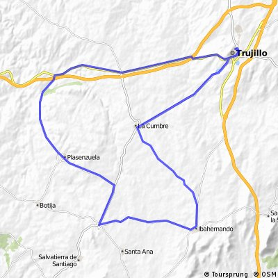 TRUJILLO-PLASENZUELA-RUANES-IBAHERNANDO-LA CUMBRE-TRUJILLO