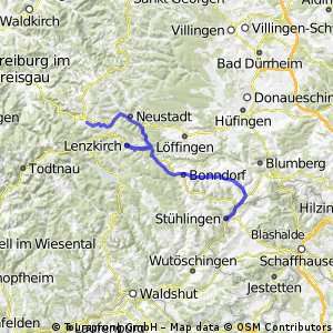 Südschwarzwaldradweg Etappe 1