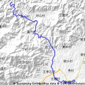 南雄市→帽子峰鎮23k→帽子峰林場40k