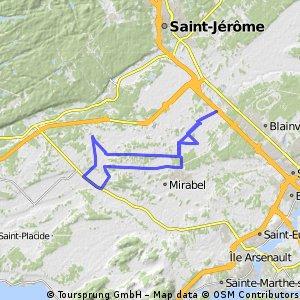 Mirabel-Cylopétards trajet long 45 km