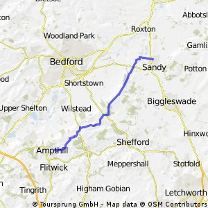 Sandy to Ampthill....