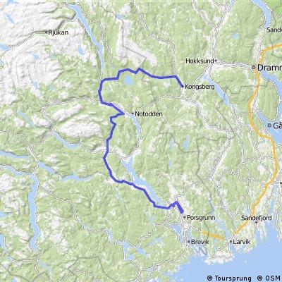 Glava Tour 2013, stage 2: Kongsberg-Skien
