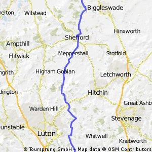 Sandy to Harpenden...