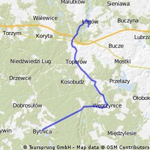 Z Bytnicy do Łagowa