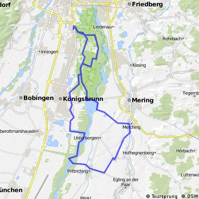 Univertel Augsburg - Mandichosee - Pittriching