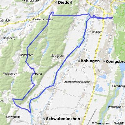 Rundtour über Reinhartshofen und Anhausen
