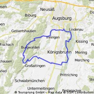 Rundtour Wehringen - Reinhartshofen - Bergheim