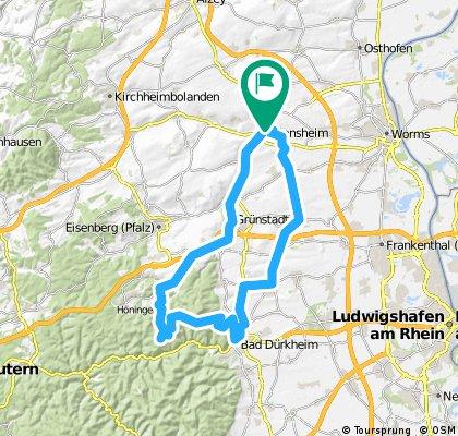 Dalsheim-Lindemannsruh-Dirmstein-Dalsheim