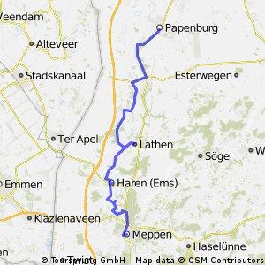 Kempen-Norderney 4. Etappe Meppen-Papenburg