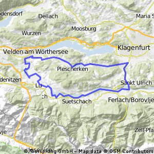 Keutschacher Seental  Tour - Ausgangspunkt Landhotel Rosentaler Hof