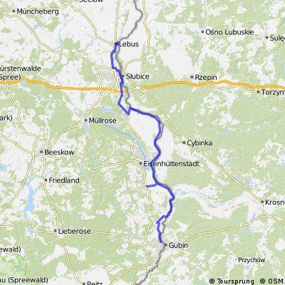 Oderradweg 12, Von Guben nach Lebus