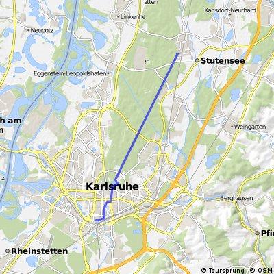 Beiertheim - Friedrichstal/Stutensee - Schöne Tour durch den Hardtwald