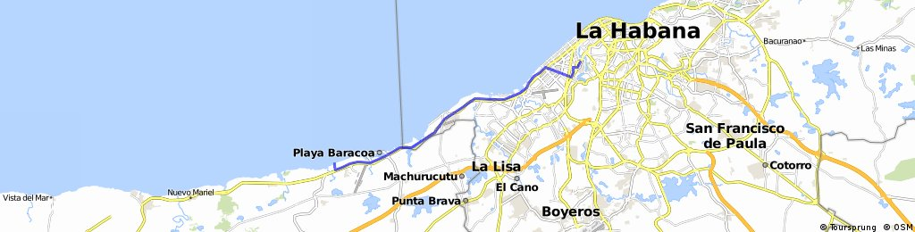 Havana to Playa Baracoa