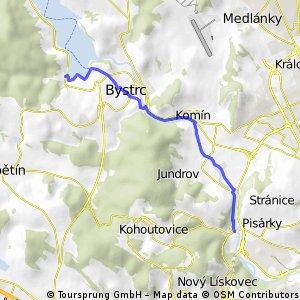 Svratecká stezka Pisárky- Bystrc(přístaviště)