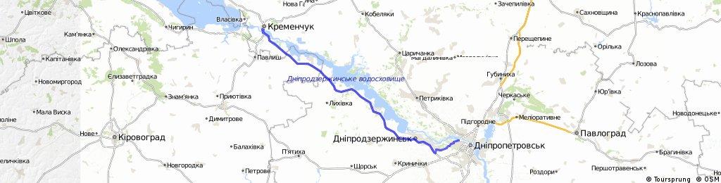 3. E. Kremenschuk - Dnipropetrovsk 155 km 230 Hm 17.6.2013