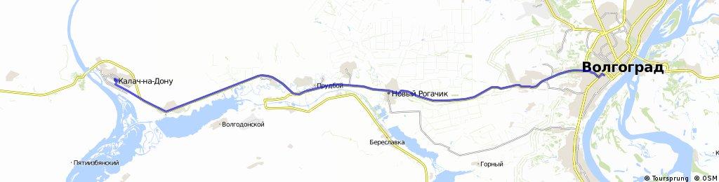7.E.: Kalatsch am Don - Wolgograd  80 km