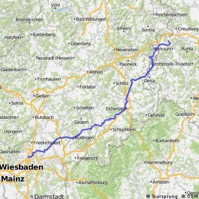 192km via Fulda nach UE