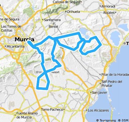 Murcia Garruchal Los Martinez Garruchal La Tercia Cabezo Canteras Torremendo Rebate S.Miguel Torremendo F.Amarga Murcia