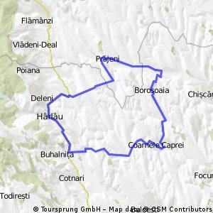 traseu Prajeni - Cornele Caprei - Harlau 65 km