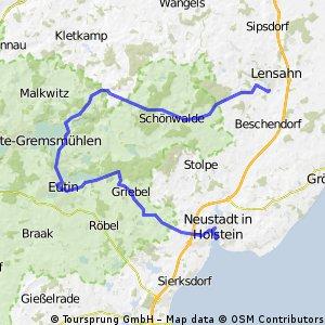 Lensahn-Kirchnüchel-Eutin-Zarnekau-Roge-Neustadt