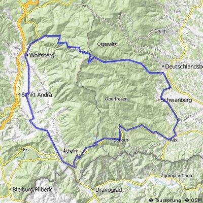 Rennradtour 8: Lavanttal - Weinebene - Soboth