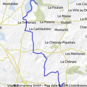 terrain VTT Montreuil le Gast