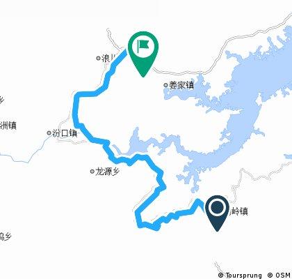 枫树岭到姜家镇