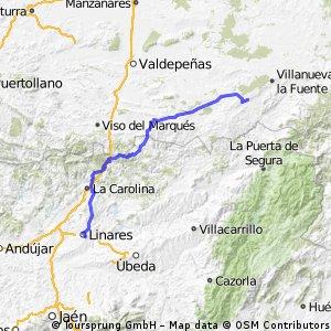 Linares,Aldeaquemada,Castellar de Santiago,Torre de Juan Abad,,Almedina,Santa Cruz de los Cañamos,Terrinches,Albaladejo.