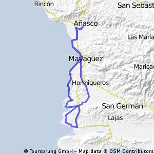 "Anasco-Cabo Rojo ""Joyudas Route"""