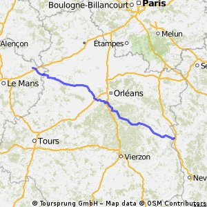 La Ferte Bernard - Cosne Cours sur Loire