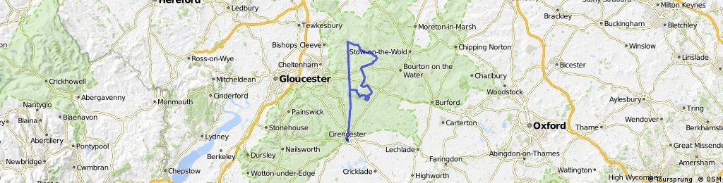 Ciren-Withington-Andoversford-Winchcombe